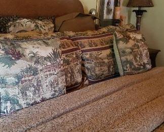 King size animal print bedding, pillows