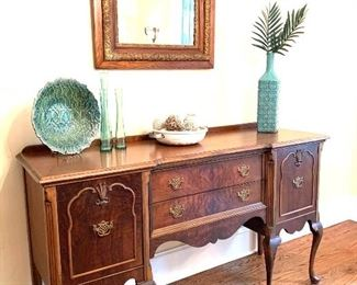 "antique sideboard, 66"" wide"
