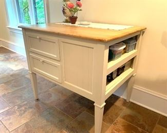 Can be used as a kitchen island or craft table.