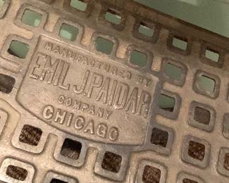 Emil J. Paidar antique barber chair