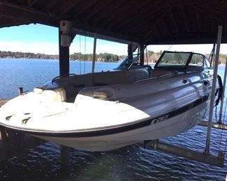 2001 Chaparral Sunsesta 233 deck boat with 290 hours, $12,250 ***available for presale***
