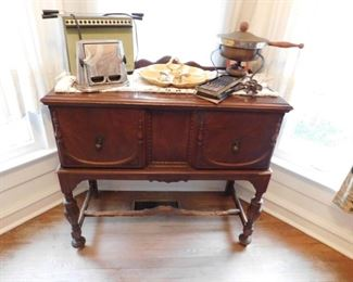 Small walnut buffet