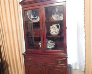 Small Mahogany China Cabinet