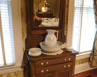Oak Washstand stained