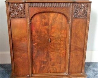 Burled Wood Cabinet Sliding Doors