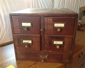 Card Catalog Cabinet