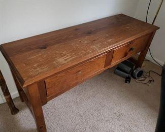 Rustic Vintage Credenza Table