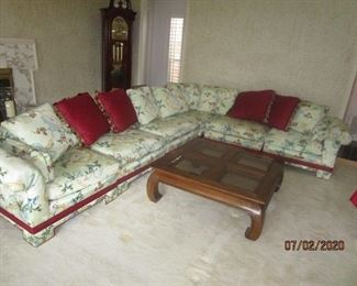 Sectional sofa.  4 pieces.  Fabric is in excellent condition.