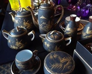 One of two tea and coffee sets.