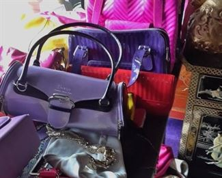 Bright and fanciful handbags -  50% off.