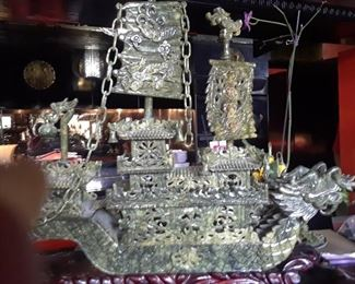 """Spinach jade junk from the Imperial Jade mines. Approximately 29"""" x 19""""h. 25% off of $850."""