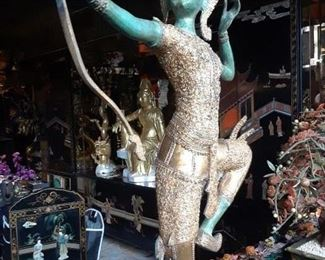 Ram - Thai God - is shown in a typical pose with bow. 25% off.
