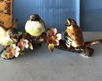 Three birds on branch $8.00