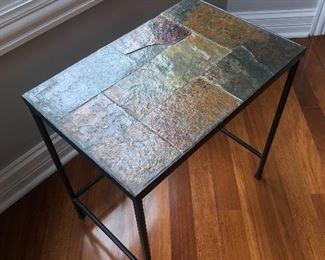 Tiled end table