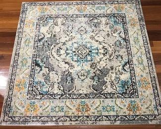 5' x 5' decorative rug