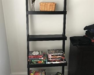 1 of 2 leaning book shelf