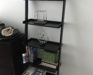 1 of 2 leaning bookshelf