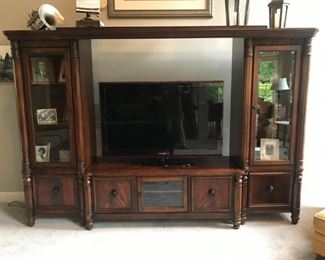 """Entertainment center.  Smart TV pictured is 50"""""""