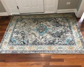 "5.5"" x 7'7"" decorative rug"