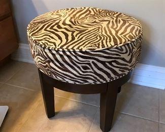 Zebra print stool
