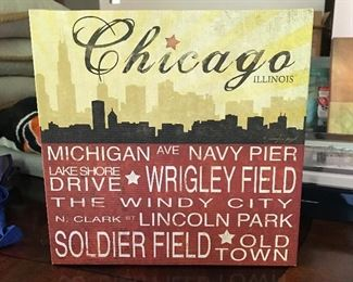 Chicago wall art on canvas
