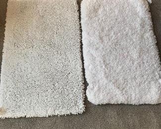 New  - White bath rugs