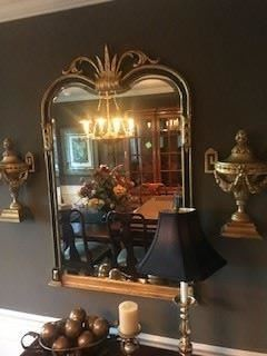 "Black & Gold Beveled Mirror ===> $600                                  Dimensions: 46"" H x 28"" W"