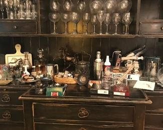 Hutch not for sale! Items displayed are for sale only.