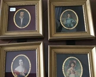 These four pieces are sold as one piece, great vintage reproduction miniatures