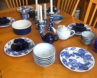 Lots of great Blue and White