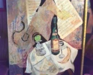 $95 Original art by Louise Robinson  - still life