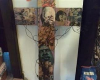 Back of the cross
