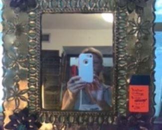 """$34 Vintage Mexican mirror 15"""" x 17"""""""