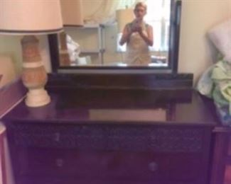 $250 Indian design chest drawers with mirror