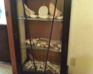 $175 Queen Ann style curio cabinet
