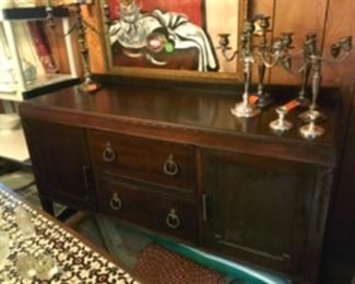 """$395 American sideboard with original tin ice drawer 59""""L x 22""""D x 31""""H"""