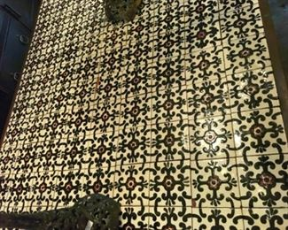 Spanish tile table top - extra tiles will be given to buyer in case some need to be replaced