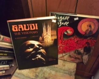 Great Art books Gaudi, Chagall.
