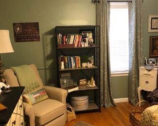 . . . a nice recliner and bookshelf