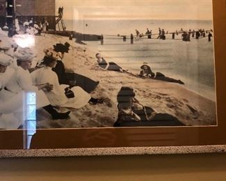 . . . this is one of two original Michigan photos -- women at the beach