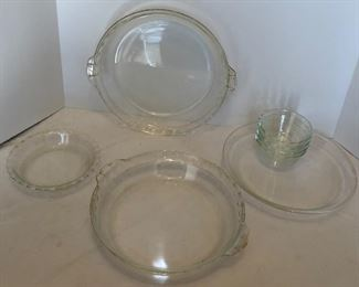 Lot #10 Collection of glass pie pans and finger bowls, $15