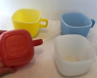 Lot #18 set of four Glasbake cups, $12