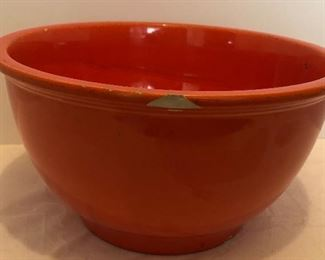 Lot #32, Large fiesta mixing bowl, chips, $26