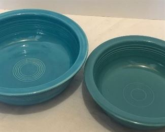 Lot #41, Set of two fiesta bowls, $12