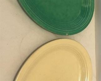 Lot #44, Two small oval fiesta platters, used, $18