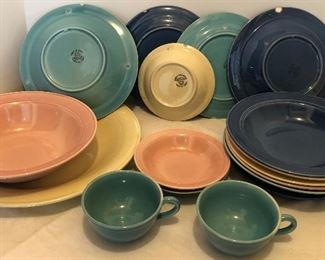 Lot #45, Large set of dishes, a few chips, chips are visible in photo, overall very nice. $28