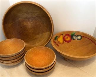 Lot #64, Wooden bowls, $14/ all
