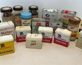 Lot #66, Large vintage spice collection, $24/all