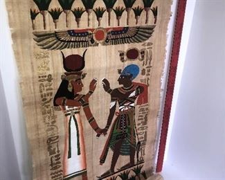 Lot #119, Large Papyrus Egyptian painting, $ 24