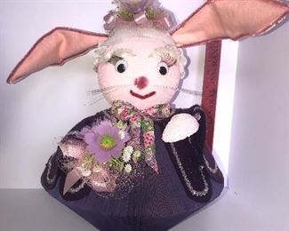 Lot #120, vintage Large bunny made from a book, $18